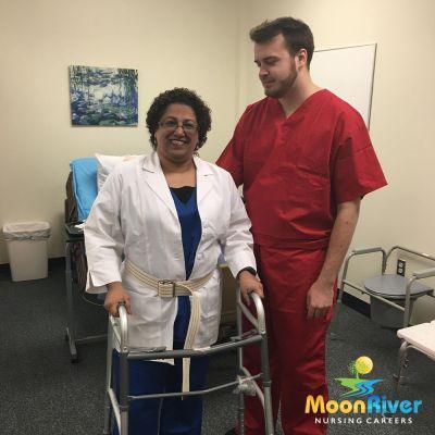 CNA skills: Using a walker