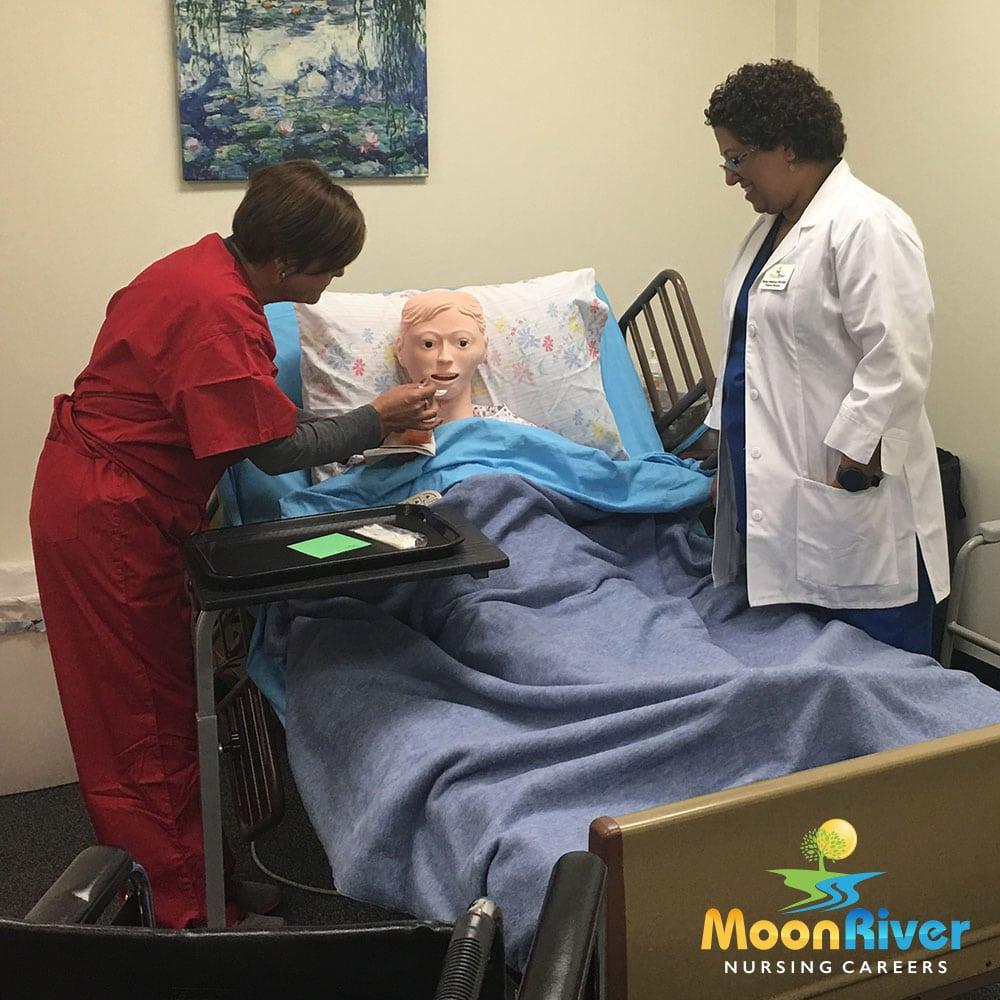 Feeding a patient_MoonRiverNursingCareers