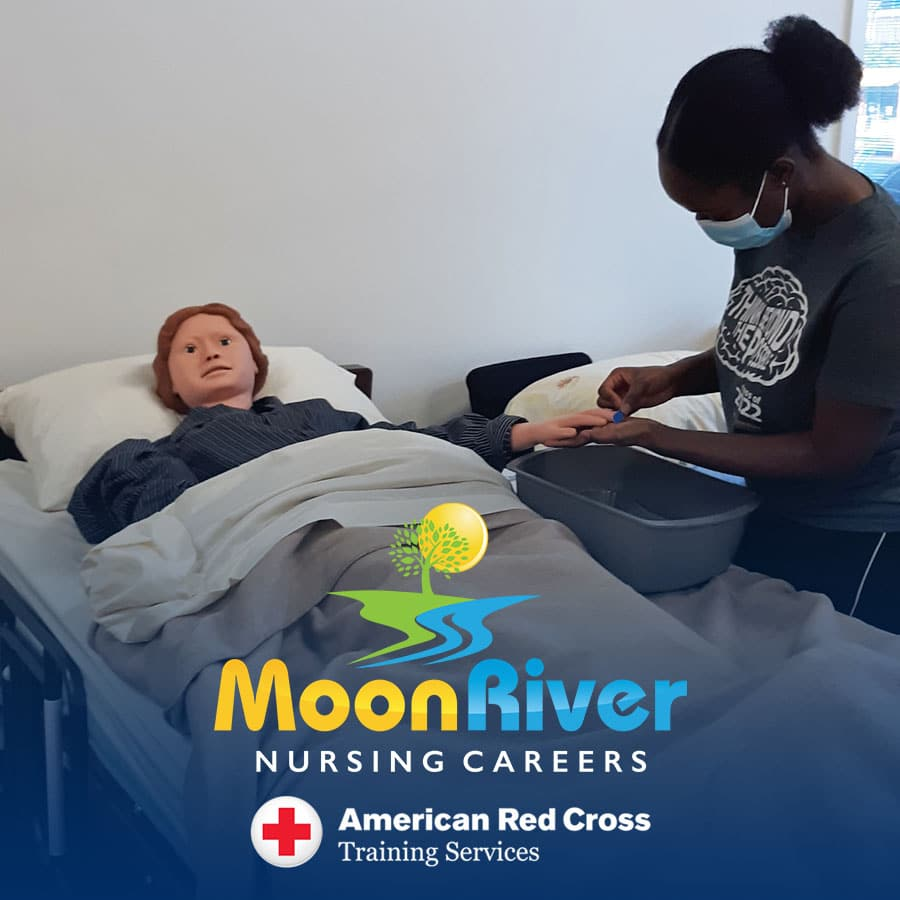 Nurse Assistant Training program at Moon River Nursing Careers in Ashburn, VA.