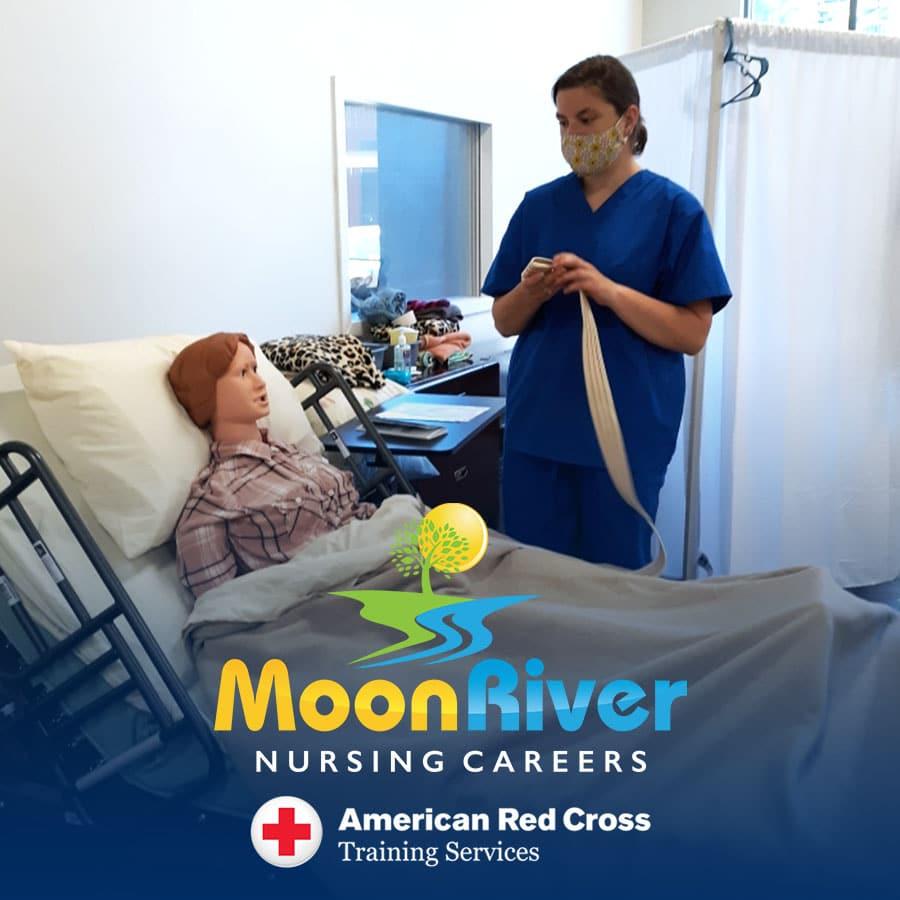 Nurse Assistant Training program at Moon River Nursing Careers in Ashburn, VA.